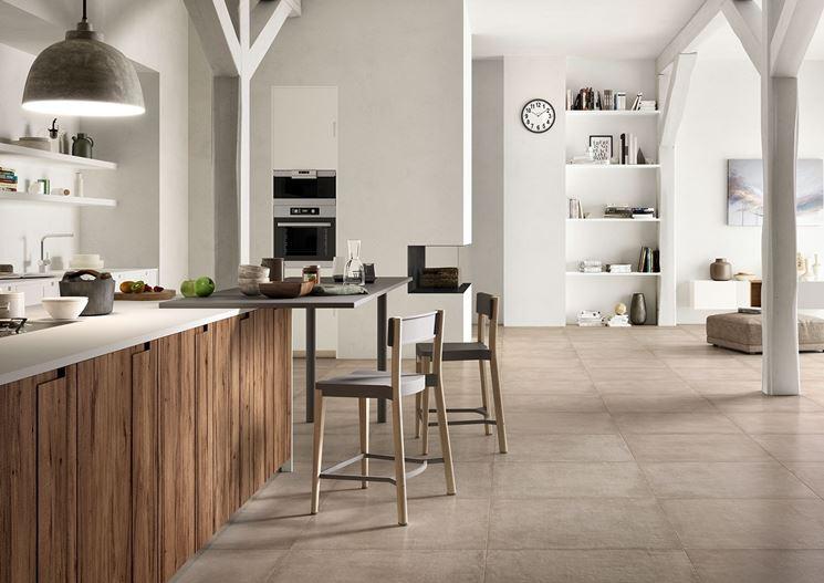 Pavimento in cucina e sala da pranzo