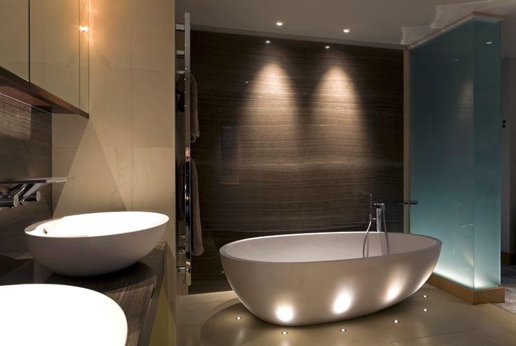 L'illuminazione in bagno