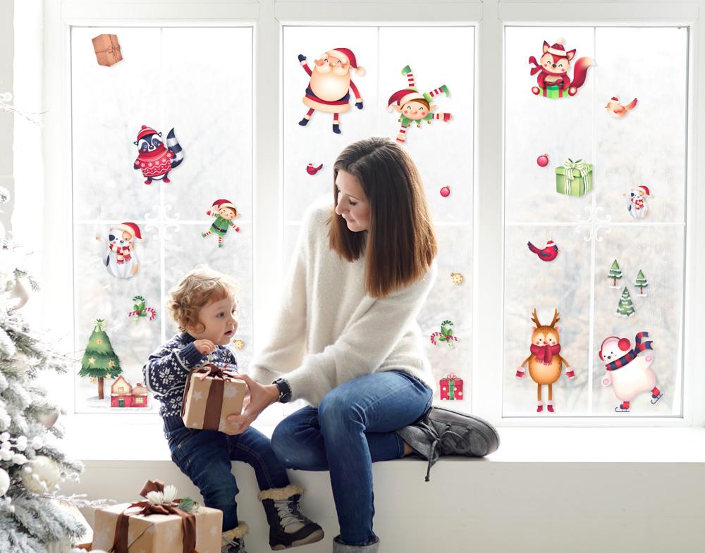 Decorazioni natalizie casa e finestre