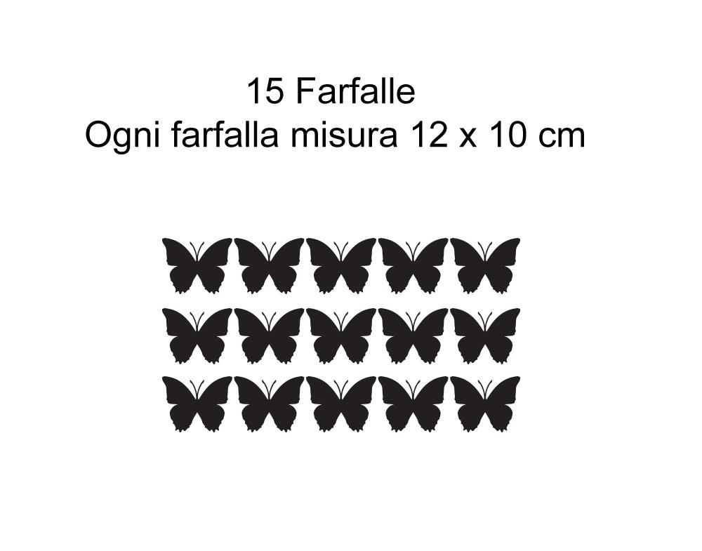 Adesivi murali wall stickers farfalle in volo adesivo for Farfalle decorative per muri
