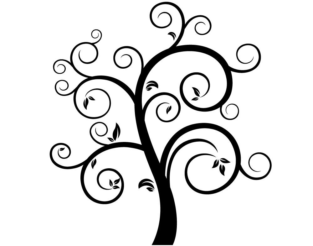 Sticker design vi presenta albero stilizzato 5 - Alberi decorativi da parete ...