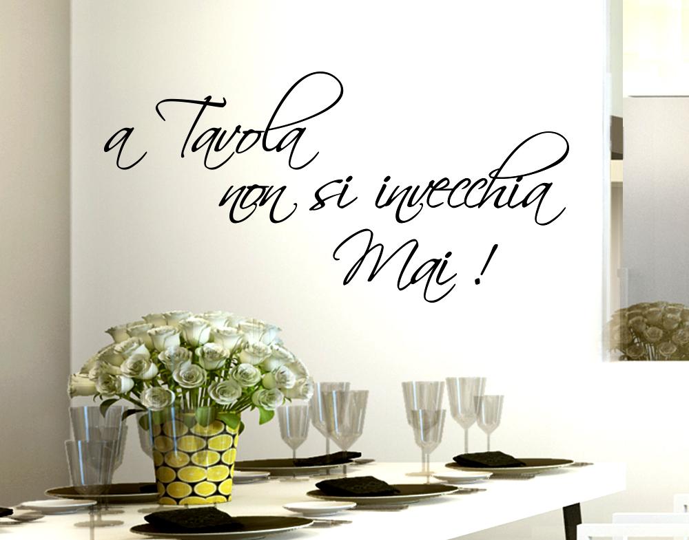 Sticker Design vi presenta Adesivo Murale Casa Cucina A tavola non ...