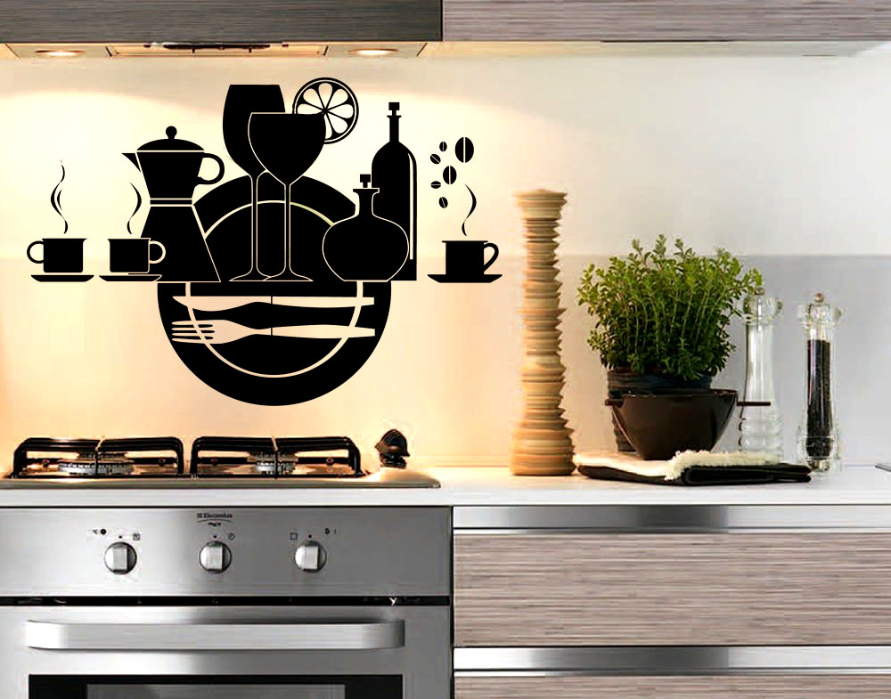 Sticker design vi presenta adesivo utensili cucina uno dei for Paraschizzi adesivo cucina