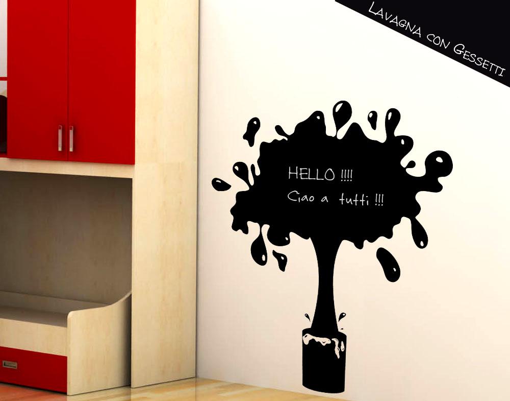 Sticker design vi presenta lavagna adesiva vernice spalt for Lavagna adesiva ikea