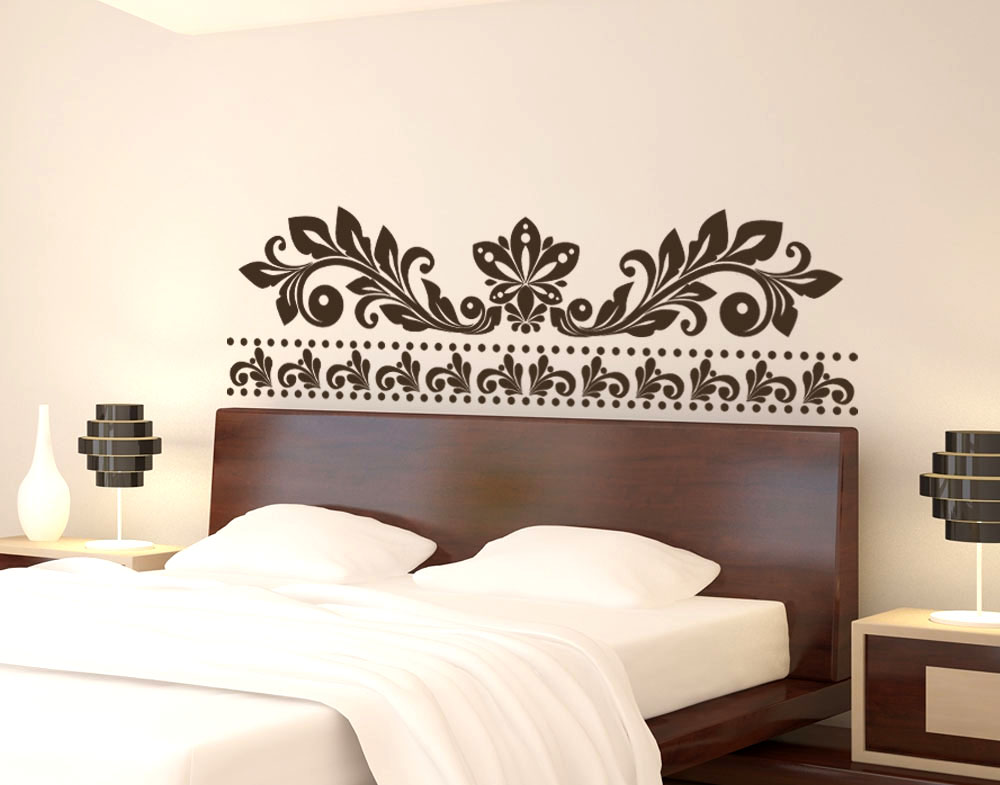 Sticker design vi presenta wall stichers testata letto 1 - Testata letto design ...