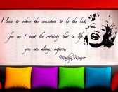 Marilyn Wall sticker phrase