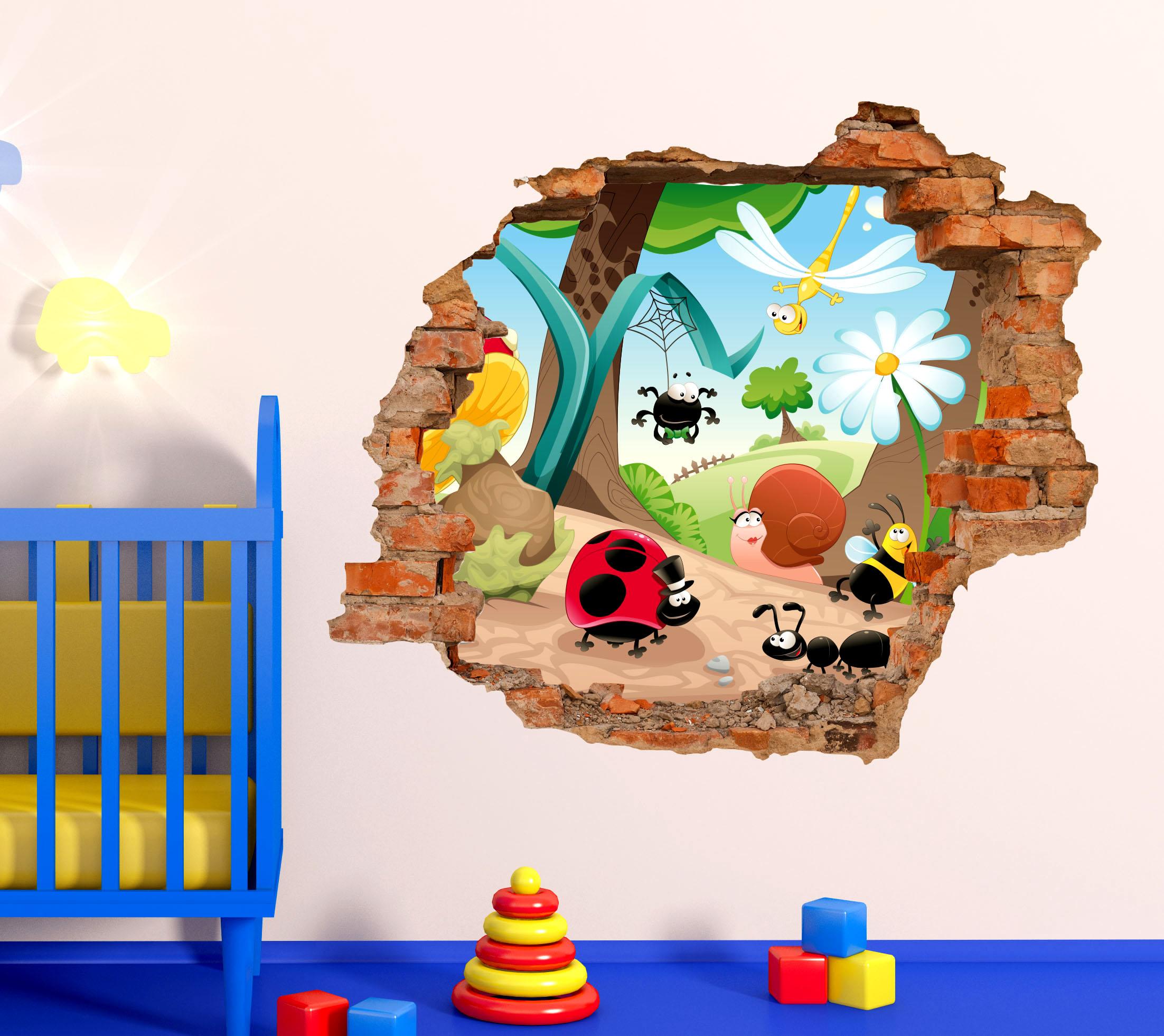 Sticker design vi presenta adesivi murali effetto 3d for Adesivi murali 3d