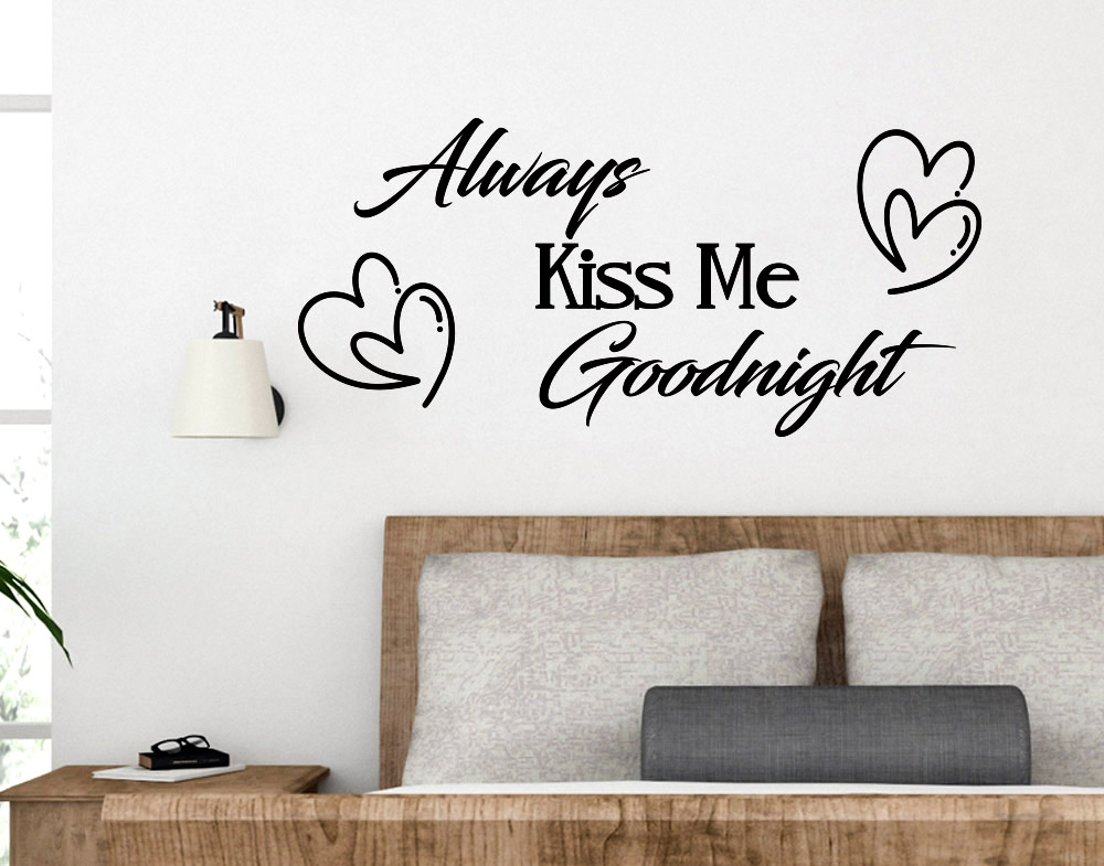 Adesivi Murali Frasi Always Kiss me Goodnight