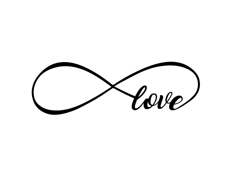 Sticker Design vi presenta Adesivi Murali Love Infinito Amore