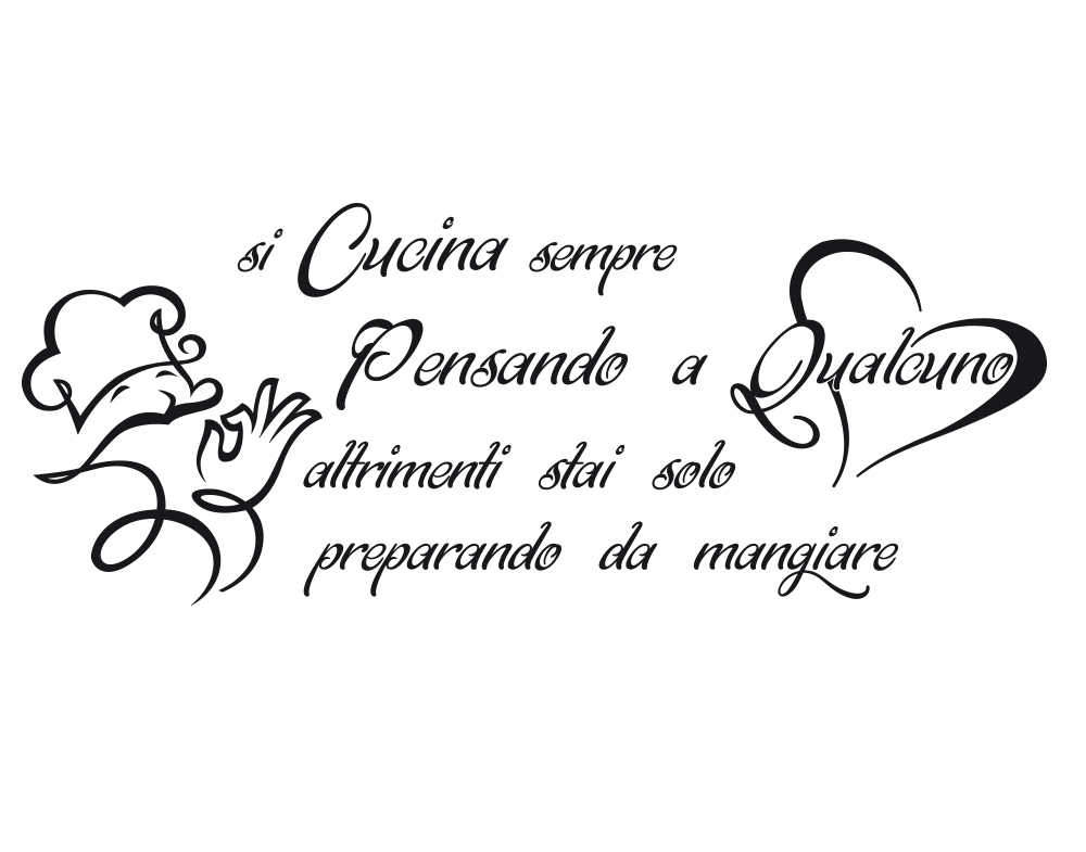 Sticker Design vi presenta Wall Stickers Frase si Cucina sempre ...