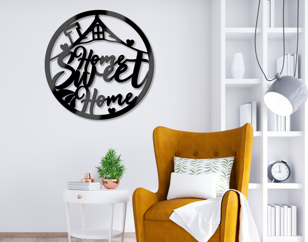 Decorazione in acrilico frase Home sweet arredo casa