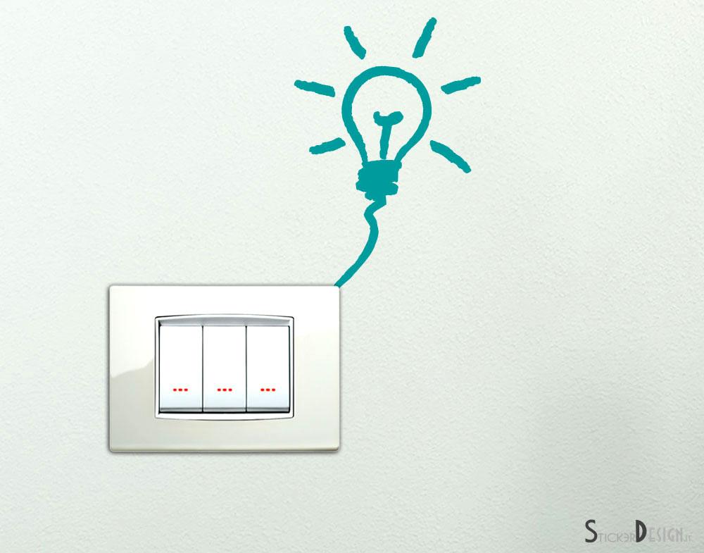 Stickers Interruttore - Adesivo Lampadina Interruttore (Cod. 24006)
