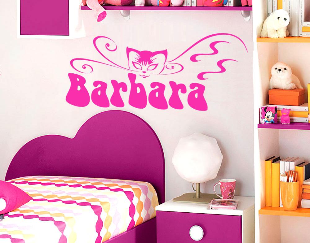 Sticker design vi presenta adesivi cameretta nome bimba - Arredare cameretta bimba ...