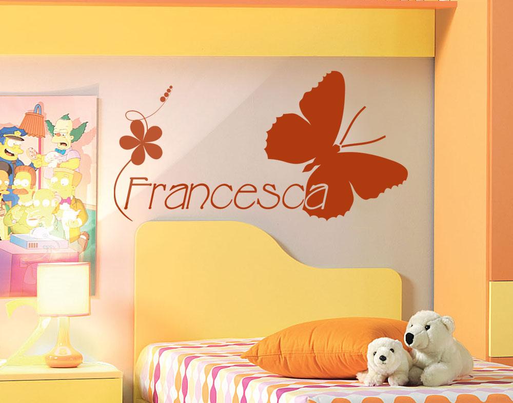 Sticker design vi presenta wall sticker cameretta nome - Decorazione cameretta bimba ...