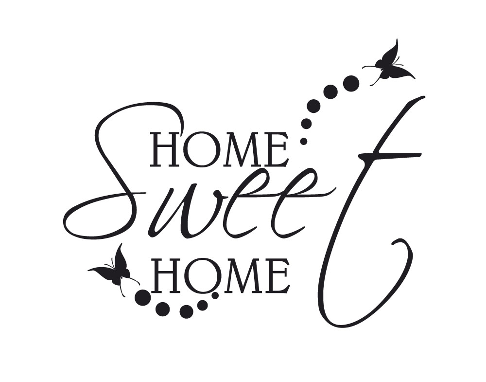 Sticker Design vi presenta wall stickers home sweet home ...