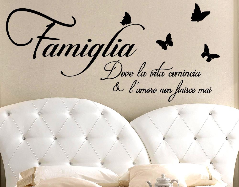 Sticker design vi presenta adesivo murali frasi famiglia for A specchio in inglese