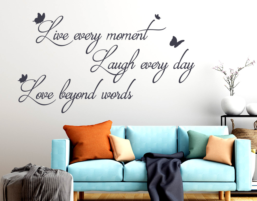 Wall stickers  Live every moment Laugh Love