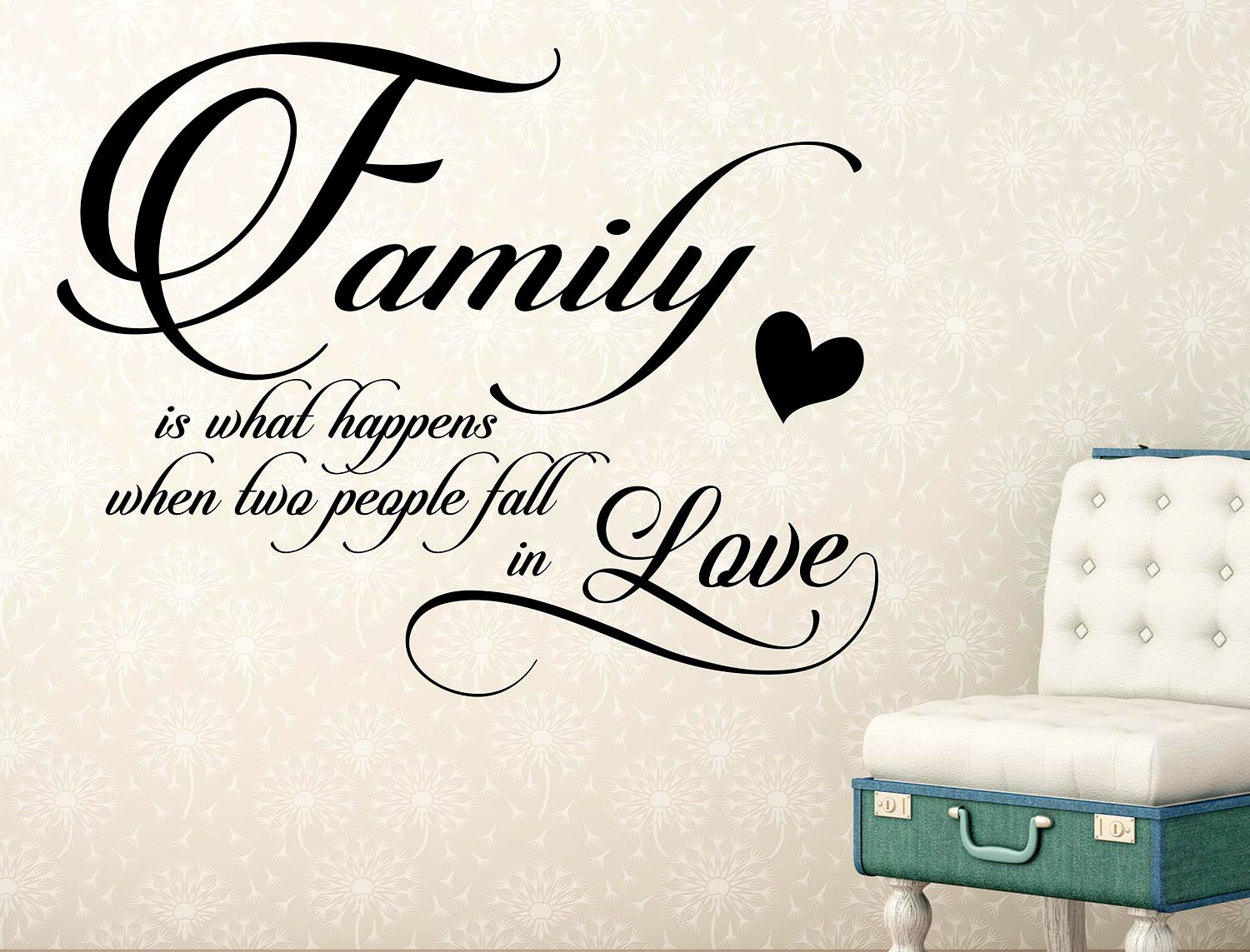 Wall Stickers Adesivo Murale Family in love