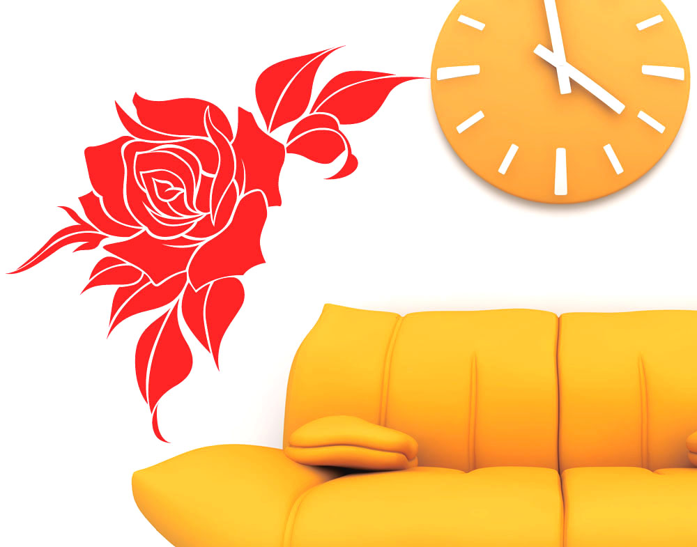 Wall Stickers Rosa Rossa
