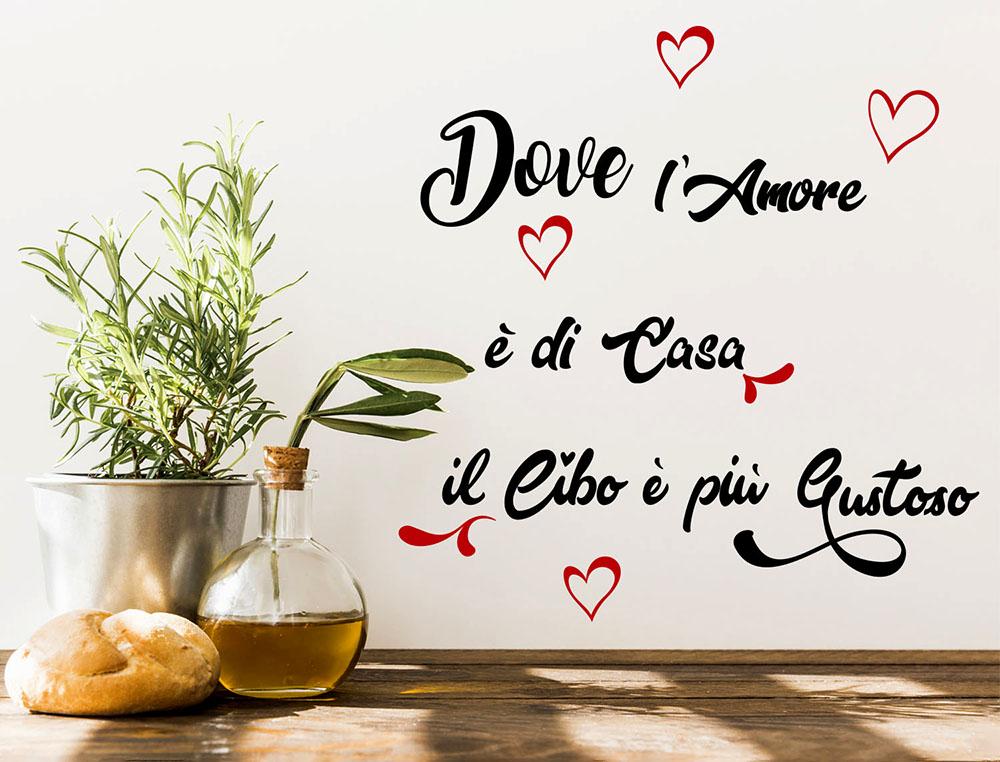 Sticker design vi presenta adesivi cucina dove l 39 amore for Adesivi cucina
