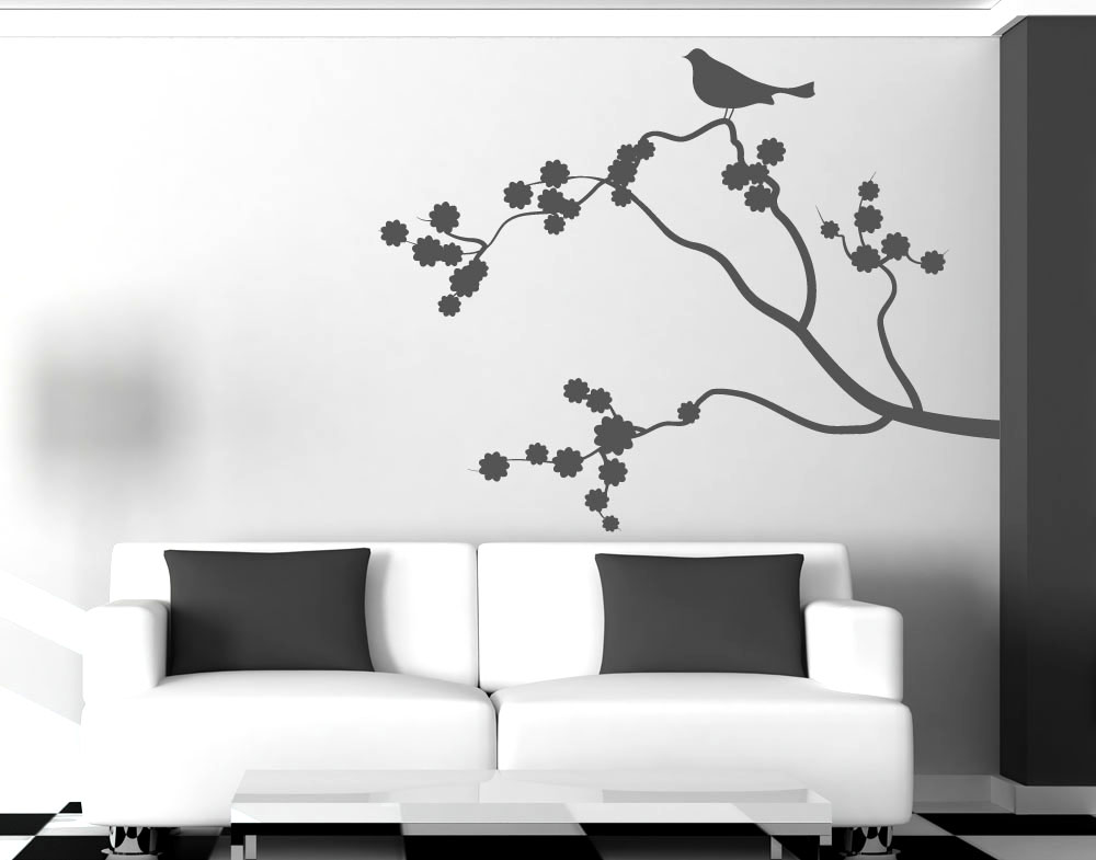 Wall Sticker Ramo con Fiori