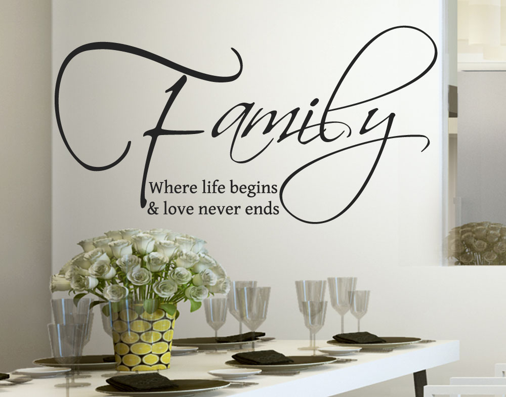 Adesivo Murale Wall Stickers Family is Love