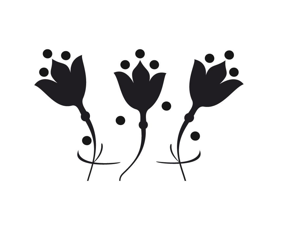 Sticker design vi presenta fiori stilizzati adesivi for Fiori stilizzati colorati