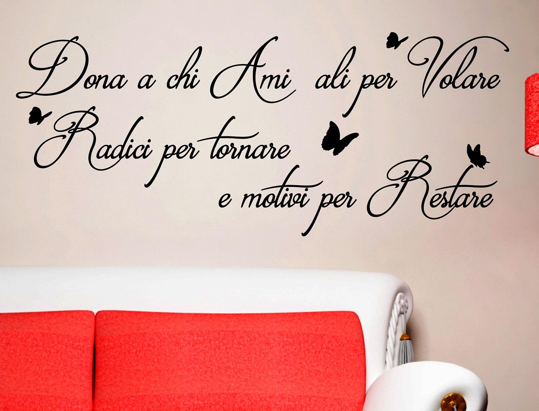 Sticker design vi presenta adesivi murali frasi dona a chi ami for Adesivi murali frasi