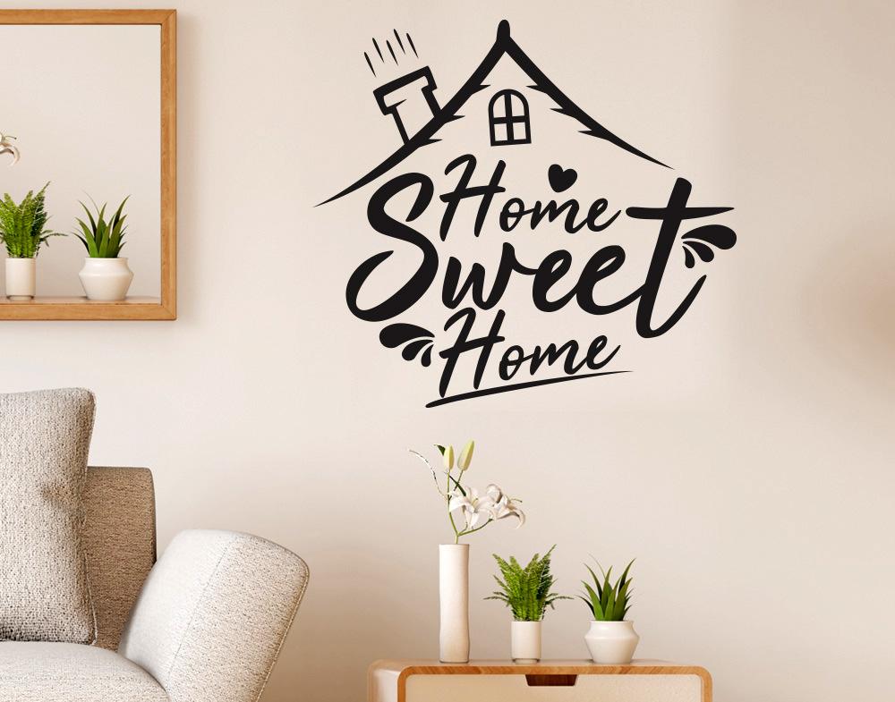Adesivi Murali Home Sweet Home.Sticker Design Vi Presenta Adesivi Murali Home Sweet Home Con Casetta E Cuore
