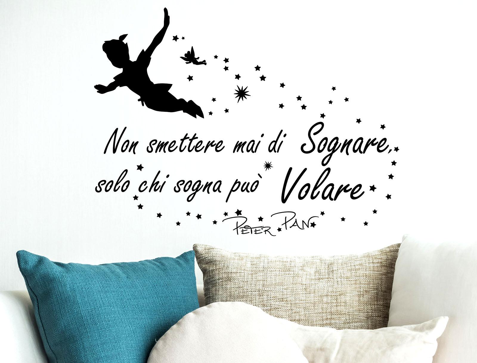 Adesivi Murali Peter Pan.Sticker Design Vi Presenta Adesivi Murali Frasi Peter Pan Non