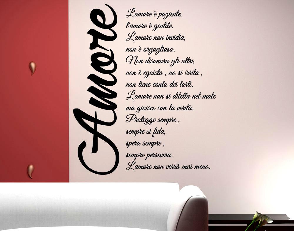 Bien connu Sticker Design vi presenta Wall Stickers Adesivo Murale Frase  WV56