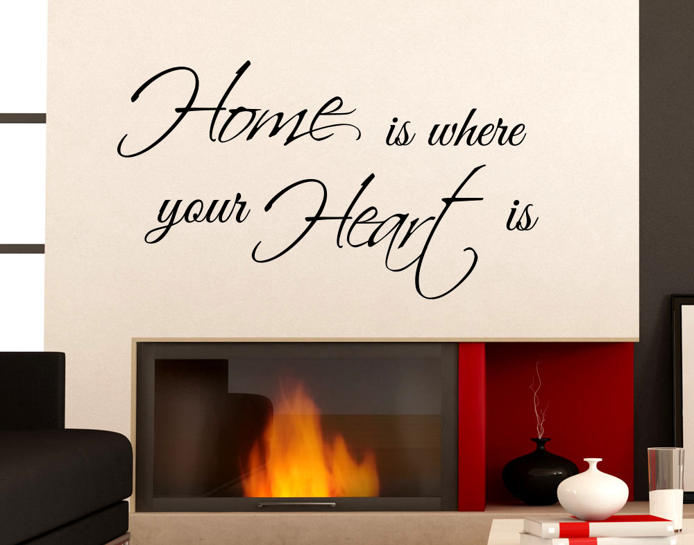 Adesivi Murale  Home Is Where Your Heart Is