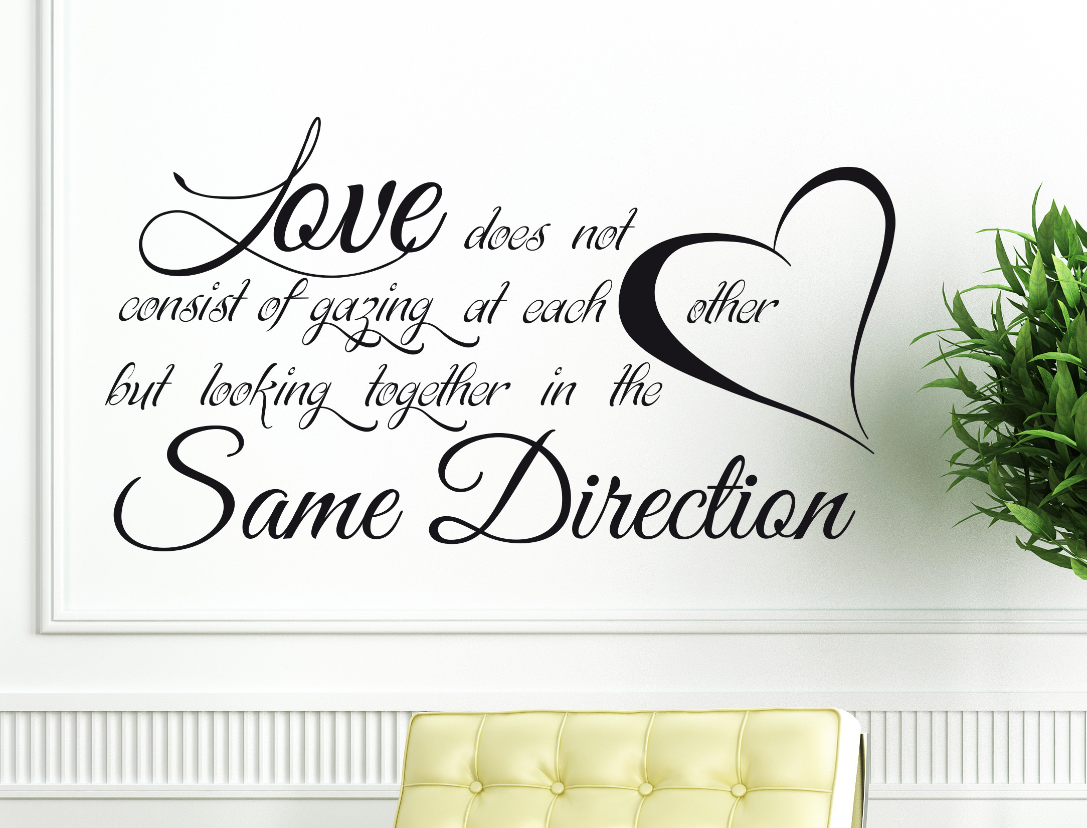 Wall stickers Love Some Direction