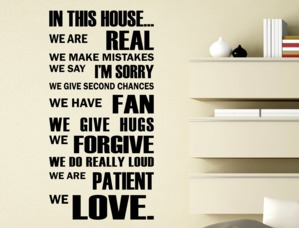 Wall Stickers Frase in This house we Love