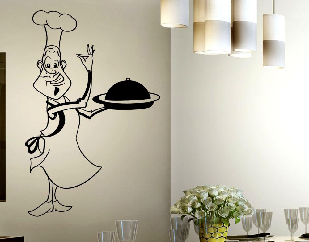 Sticker design vi presenta adesivo cuoco in cucina for Paraschizzi adesivo cucina