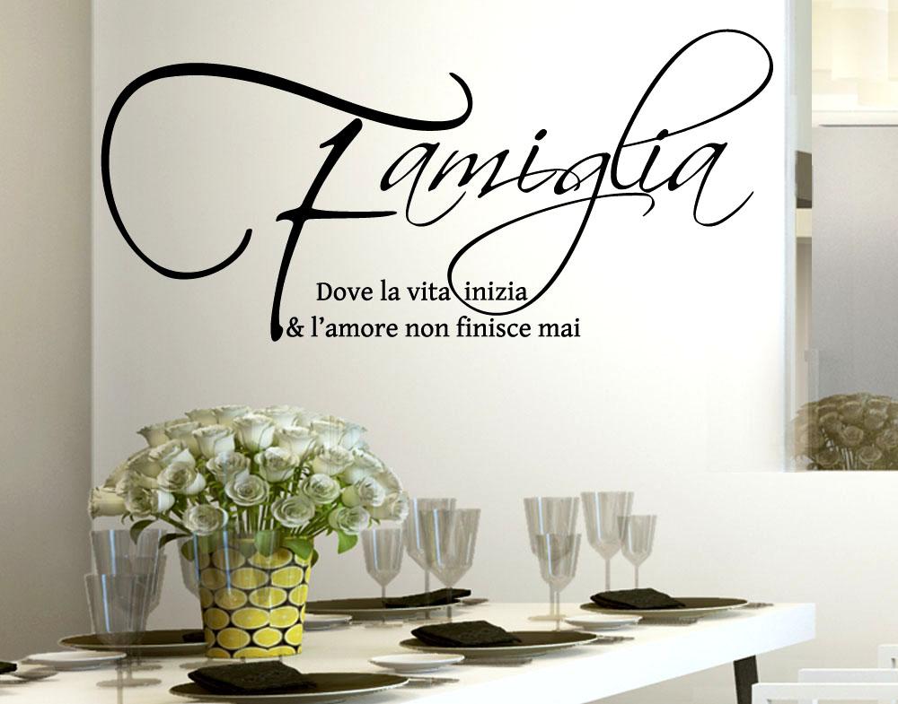 Sticker design vi presenta adesivo murale famiglia amore for Scritte adesive cucina