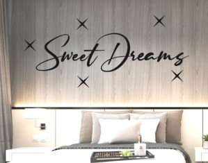 Wall stickers frase sweet dreams adesivo sogni d'oro